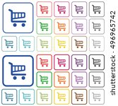 set of cart flat rounded square ... | Shutterstock .eps vector #496965742
