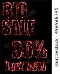 neon sale | Shutterstock .eps vector #496968745