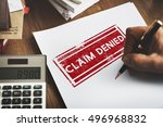 delayed banned cancelled denied ... | Shutterstock . vector #496968832