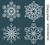 decorative abstract snowflake.... | Shutterstock .eps vector #496970932