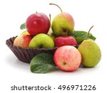Basket Of Apples And Pears...