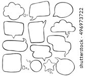 set of different speak bubbles  ... | Shutterstock .eps vector #496973722