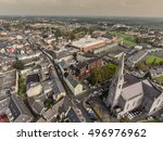 Aerial View Of Ennis Town City...