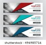abstract banner design... | Shutterstock .eps vector #496985716