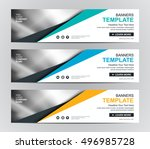 abstract banner design... | Shutterstock .eps vector #496985728