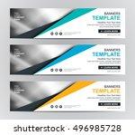 abstract banner design... | Shutterstock .eps vector #496985728