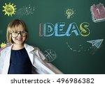 study ideas learn kids concept   Shutterstock . vector #496986382