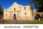 exterior view of the historic... | Shutterstock . vector #496987702
