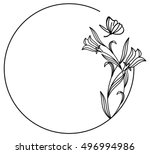 elegant round frame with... | Shutterstock . vector #496994986
