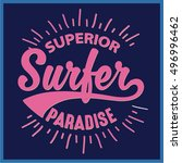 vintage surfing graphics and... | Shutterstock .eps vector #496996462