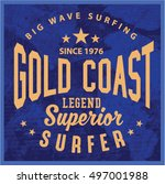 vintage surfing graphics and... | Shutterstock .eps vector #497001988