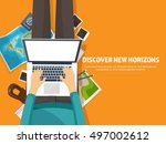 travel tourism  flat style... | Shutterstock .eps vector #497002612