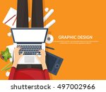 graphic and web design... | Shutterstock .eps vector #497002966