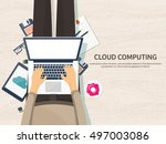 cloud computing illustration... | Shutterstock .eps vector #497003086