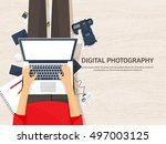photography equipment with... | Shutterstock .eps vector #497003125