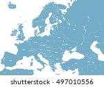 europe high detailed political... | Shutterstock .eps vector #497010556
