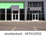 unoccupied generic store front  ... | Shutterstock . vector #497012932