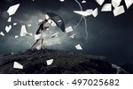 overcoming challenges and... | Shutterstock . vector #497025682