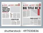 Graphical design tabloid newspaper template, creative highlight | Shutterstock vector #497030836