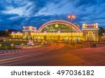 bangkok train station in light... | Shutterstock . vector #497036182