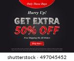 banner get extra 50 percent... | Shutterstock .eps vector #497045452