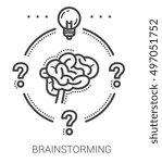 brainstorming infographic... | Shutterstock .eps vector #497051752