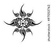 abstract tribal tattoo vector... | Shutterstock .eps vector #497053762