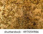 blur texture of the gold leaf ... | Shutterstock . vector #497054986