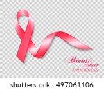 breast cancer awareness ribbon... | Shutterstock .eps vector #497061106