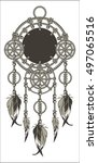 native american dreamcatcher... | Shutterstock .eps vector #497065516