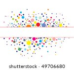 retro rainbow circle pattern...