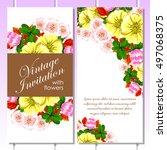vintage delicate invitation... | Shutterstock .eps vector #497068375