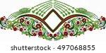 hungarian folk art | Shutterstock .eps vector #497068855