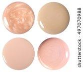 blots of nail polish and... | Shutterstock . vector #497070988