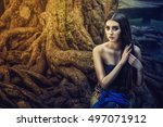 beautiful girl in a thai dress  ... | Shutterstock . vector #497071912
