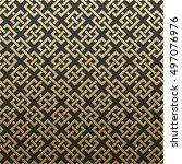 golden metallic background with ... | Shutterstock .eps vector #497076976