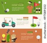 golf club banner horizontal set ... | Shutterstock .eps vector #497089102