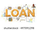 personal loan  business finance ... | Shutterstock .eps vector #497091298