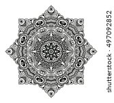 mandala design. hand drawn...   Shutterstock .eps vector #497092852