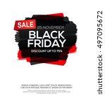 black friday inscription on... | Shutterstock .eps vector #497095672