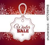 winter sale poster. vector... | Shutterstock .eps vector #497098948