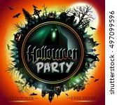 halloween. | Shutterstock .eps vector #497099596