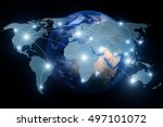 network connection partnership... | Shutterstock . vector #497101072