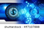 uture technology  blue silver... | Shutterstock . vector #497107888