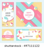 elegant modern flyers and cards ... | Shutterstock .eps vector #497111122