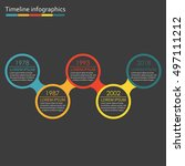 timeline infographics template... | Shutterstock .eps vector #497111212
