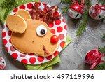 christmas fun food for kids.... | Shutterstock . vector #497119996