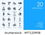 set of blue hamster library... | Shutterstock .eps vector #497120908