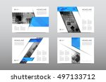 brochure layout template flyer... | Shutterstock .eps vector #497133712