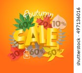 shopping special offer template.... | Shutterstock .eps vector #497136016